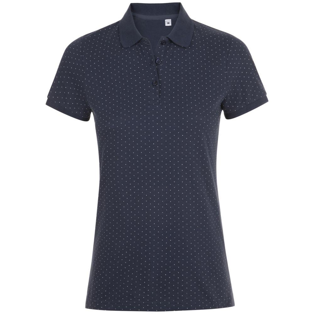 b1e3c3f76b000 Рубашка поло женская BRANDY WOMEN, темно-синяя с белым