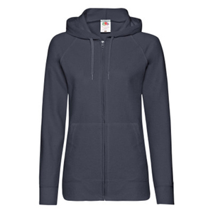 "Толстовка без начеса ""Ladies Lightweight Hooded Sweat"", темно-синий, S, 80% х/б 20% полиэстер, 240 г/м2"
